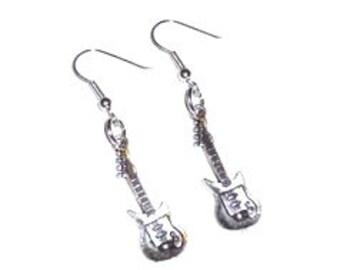 Electric Guitar Dangle Earrings