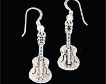 Acoustic Guitar Dangle Earrings