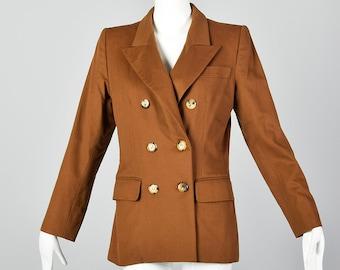6aa11582cb5 Medium Yves Saint Laurent Rive Gauche 1990s Brown Wool Blazer Double  Breasted Jacket Designer Blazer 90s YSL