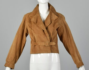 68680e71504 XS Yves Saint Laurent Rive Gauche 1970s Suede Biker Jacket Vintage Leather  Jacket 70s YSL Motorcycle Coat