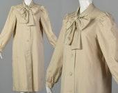 Small Bonnie Cashin 1970s Lightweight Jacket Vintage Spring Jacket Ascot Neck Coat 70s Beige Minimalist Jacket