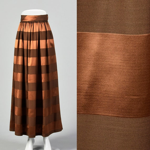 XS 1970s Brown Maxi Skirt Winter Fall Sepreates