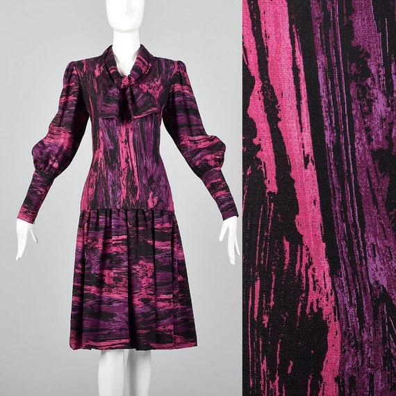 Medium Pauline Trigere Drop Waist Dress 1980s Trig