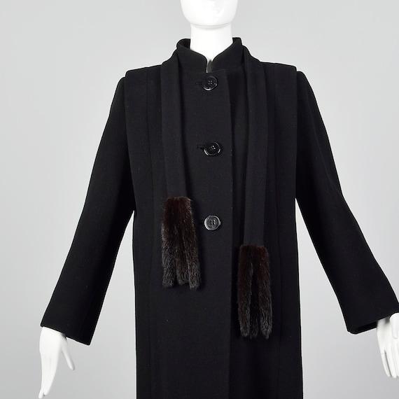 Small 1980s Pauline Trigere Coat Black Wool Winte… - image 4