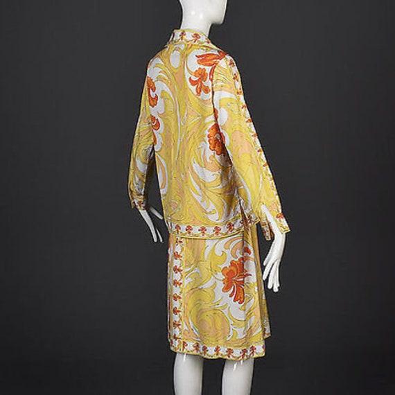 60s Emilio Pucci Cotton Pucci Suit Pucci Print 60… - image 3