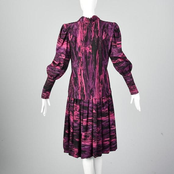 Medium Pauline Trigere Drop Waist Dress 1980s Tri… - image 5