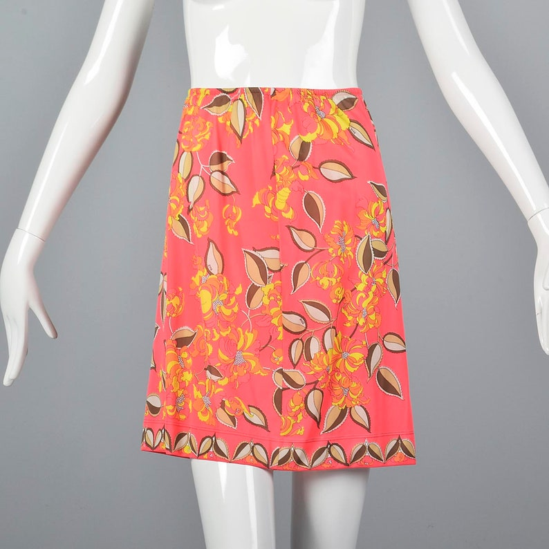 XS 1970s Pucci Slip Emilio Pucci Half Slip Vintage Lingerie Bright Colors Hippie Boho Vintage 70s Bold Pattern 70s Loungewear
