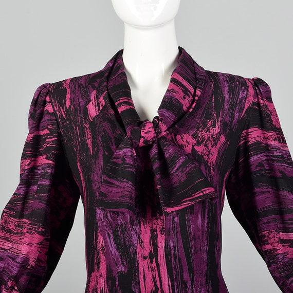 Medium Pauline Trigere Drop Waist Dress 1980s Tri… - image 7