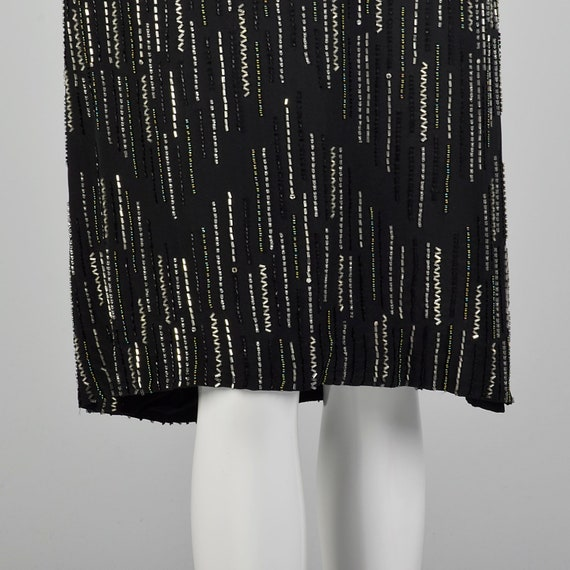 XS 1980s Argenti Black Beaded Dress Pullover Ball… - image 8