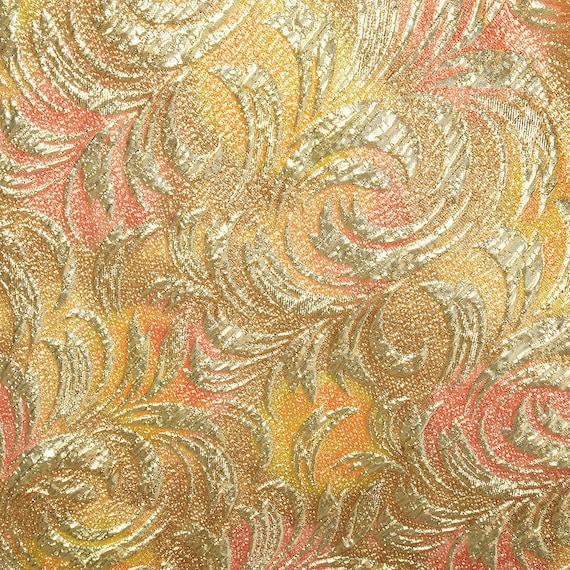 1960s Lucie Ann Kaftan Metallic Gold Tent Dress L… - image 8