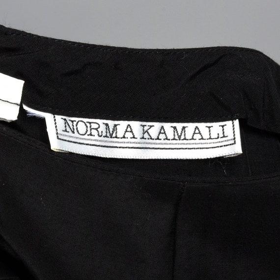 Small 1980s Norma Kamali Black Mermaid Skirt Plea… - image 8