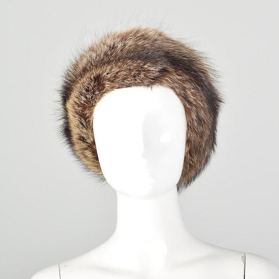XS Fur Headband Raccoon Brown Ear Muffs Ear Warmer