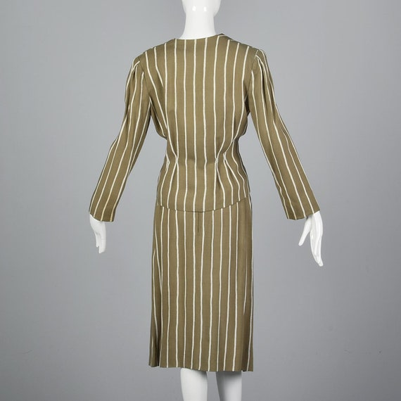 Large Pauline Trigere Skirt Suit Blazer Jacket 19… - image 3