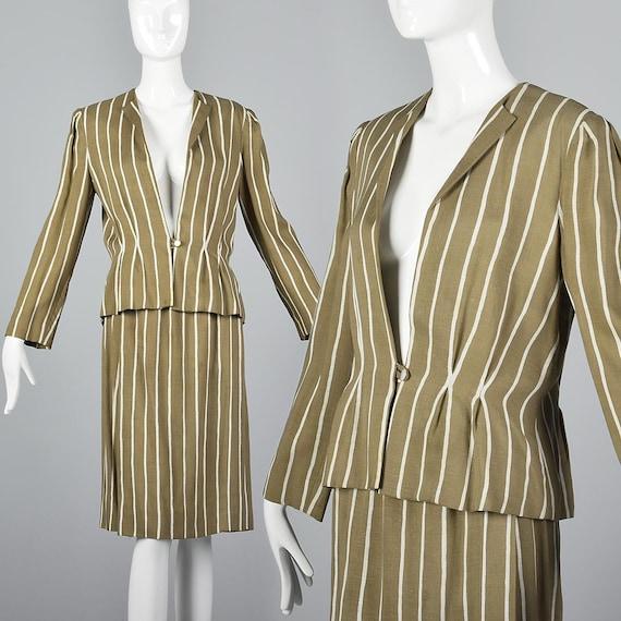 Large Pauline Trigere Skirt Suit Blazer Jacket 19… - image 1
