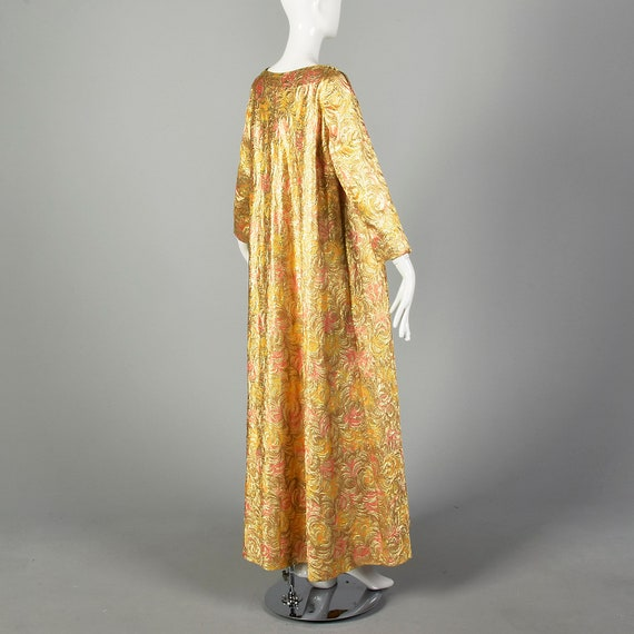 1960s Lucie Ann Kaftan Metallic Gold Tent Dress L… - image 3