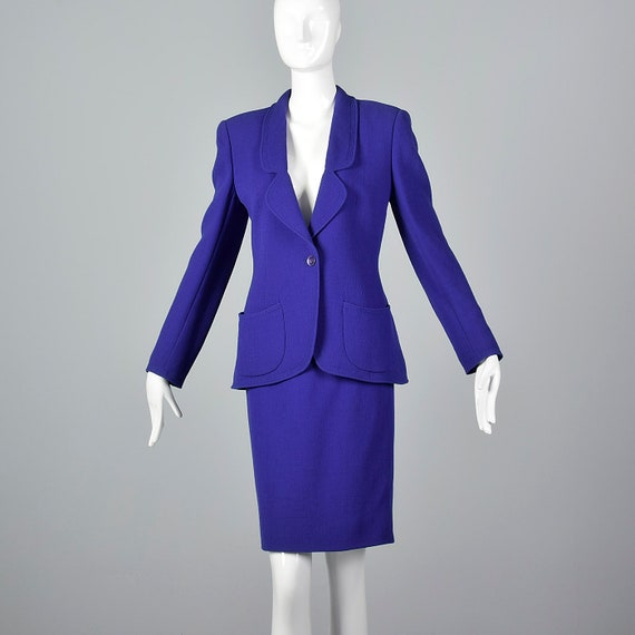 Large Emanuel Ungaro Parallele Purple Skirt Suit A
