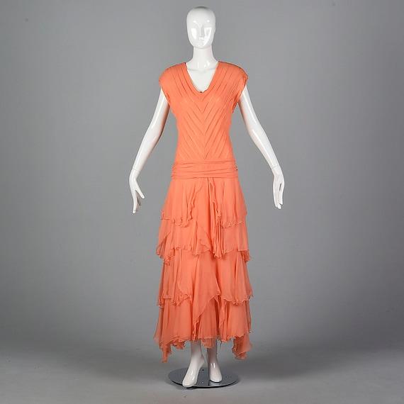 Chiffon Evening Dress Elegant Evening Gown Bias Cu