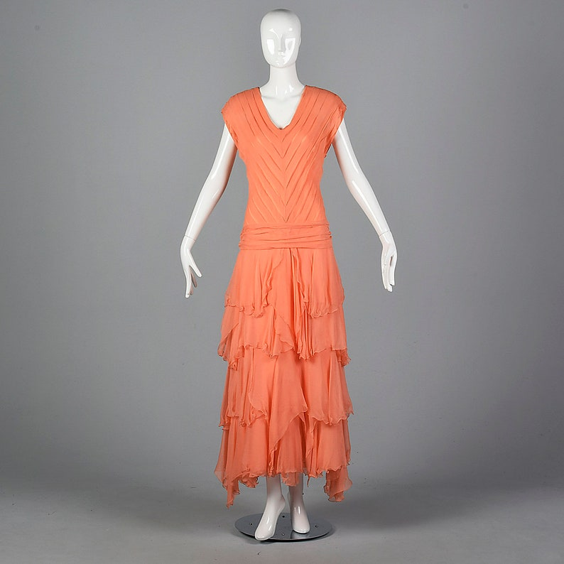 125bb2d7c84 Chiffon Evening Dress Elegant Evening Gown Bias Cut Silk Dress | Etsy