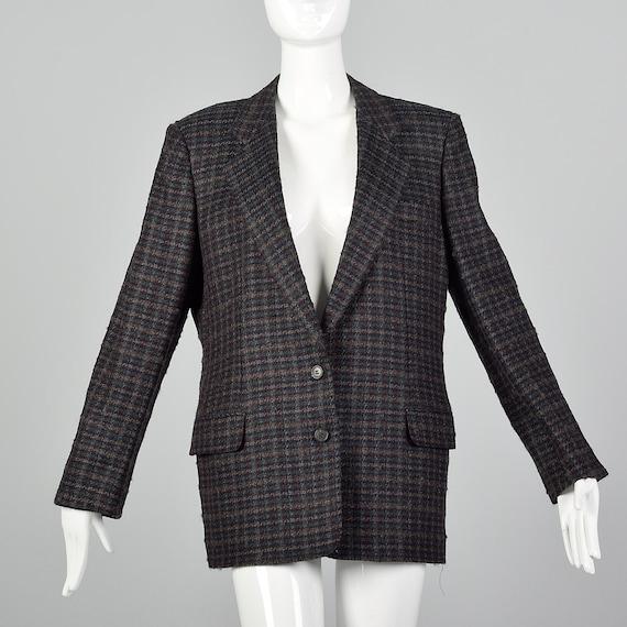 Large Burberrys 1990s Tweed Blazer Vintage Menswea