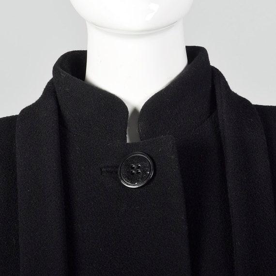 Small 1980s Pauline Trigere Coat Black Wool Winte… - image 7