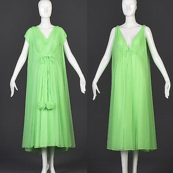 Lucie Ann Beverly Hills Lingerie 60s Nightgown Pei
