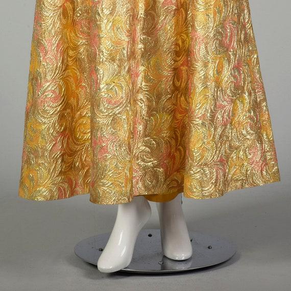 1960s Lucie Ann Kaftan Metallic Gold Tent Dress L… - image 7