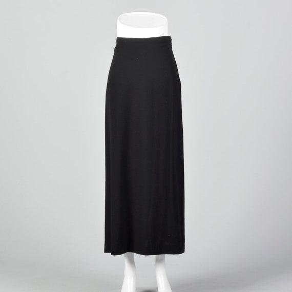 Medium Issey Miyake 1990s Black Skirt 90s Minimali