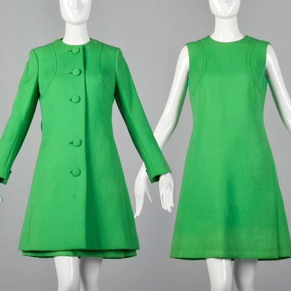 Medium Via Veneto 1960s Couture Dress Mod Vintage