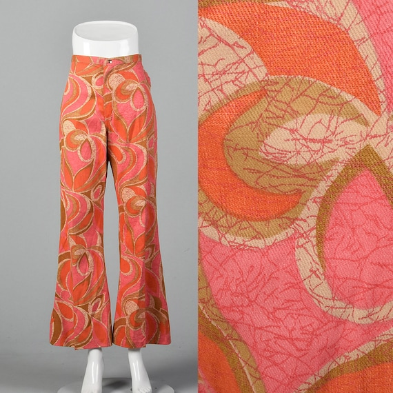 Small Wrangler Pink and Orange Abstract Print Jean