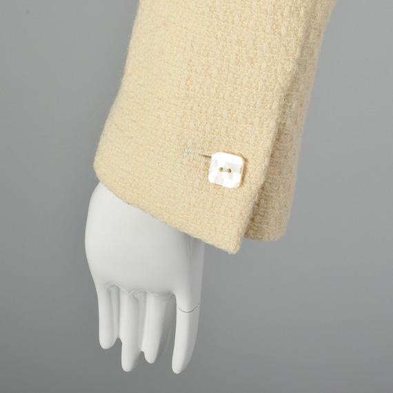 Medium Chanel 1990s Cream Wool Jacket Vintage Cha… - image 7