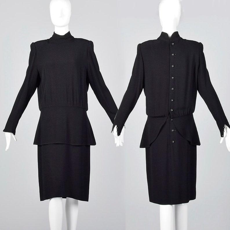 6d2262ec04 Small Sonia Rykiel Black Dress Fitted Shirt Waist Rhinestone | Etsy