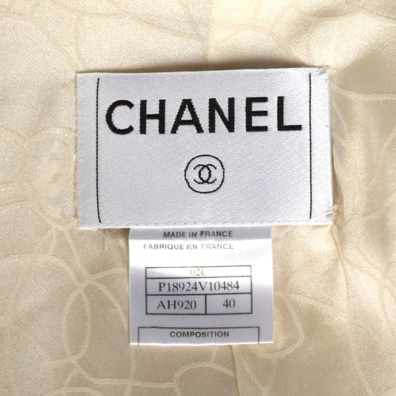 Medium Chanel 1990s Cream Wool Jacket Vintage Cha… - image 10