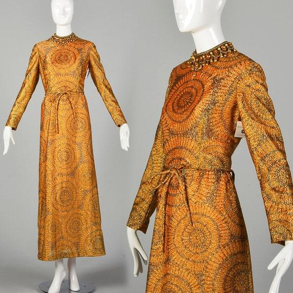 Adele Simpson 1970s Evening Dress Long Sleeve Meta