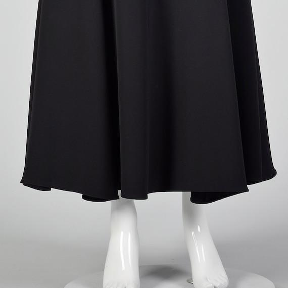 Small 1990s Giorgio Armani Black Maxi Skirt Merma… - image 6