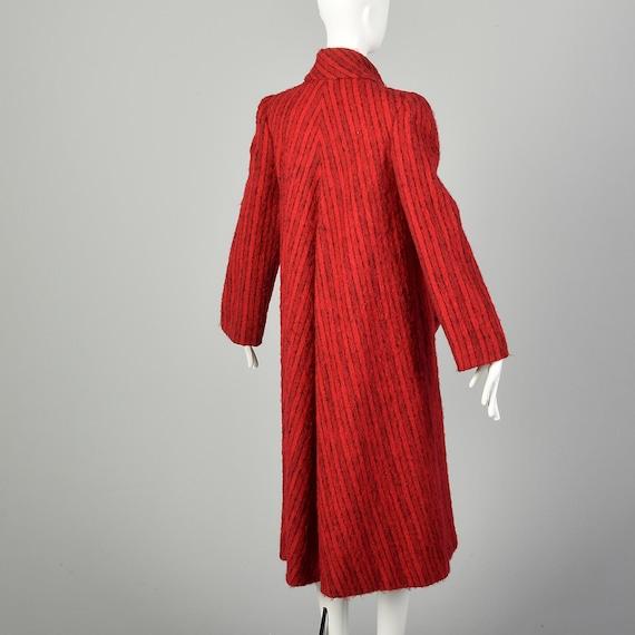 Medium 1980s Pauline Trigere Coat Red Mohair Blac… - image 5