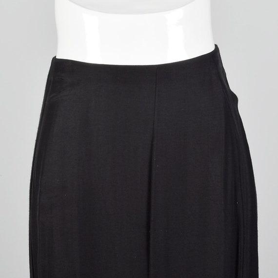 Small 1980s Norma Kamali Black Mermaid Skirt Plea… - image 4