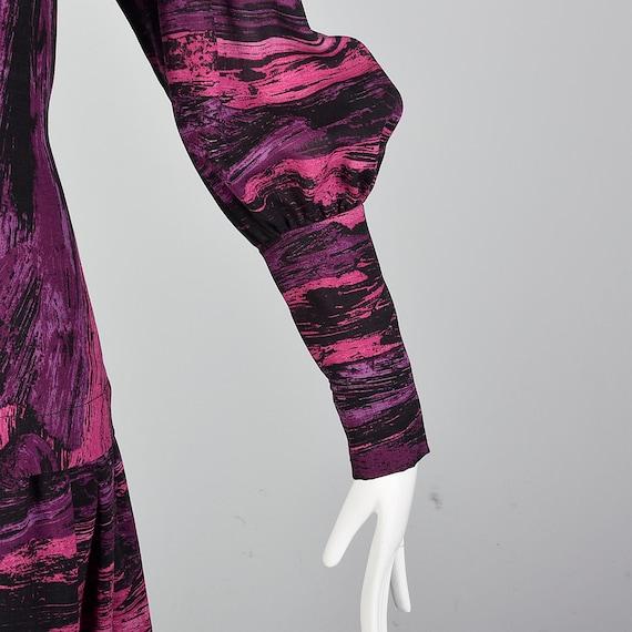 Medium Pauline Trigere Drop Waist Dress 1980s Tri… - image 9