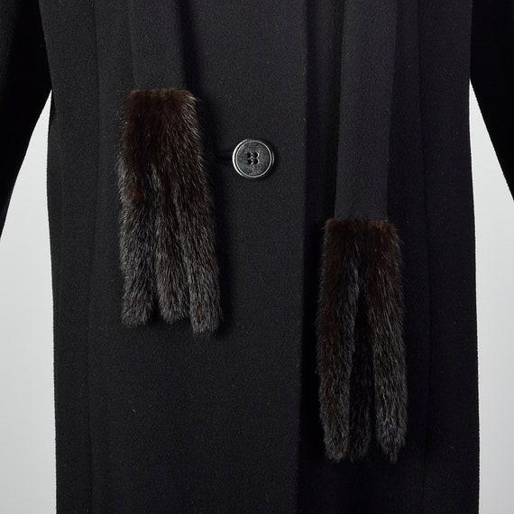 Small 1980s Pauline Trigere Coat Black Wool Winte… - image 5