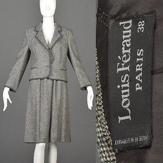 Louis Feraud Suit Louis Faraud Skirt Suit Gray Twe