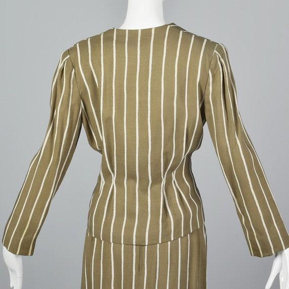 Large Pauline Trigere Skirt Suit Blazer Jacket 19… - image 7