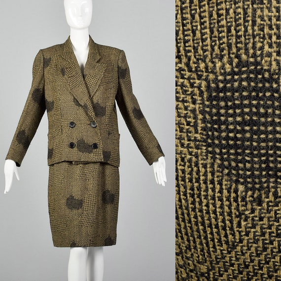 Small 1980s Dorothee Bis Tweed Skirt Suit Oversize
