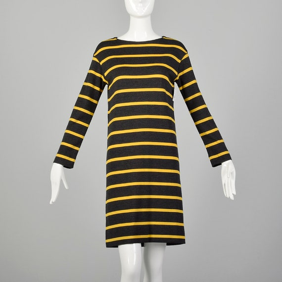 Small 1960s Goldworm Mod Dress Long Sleeve Wool Kn
