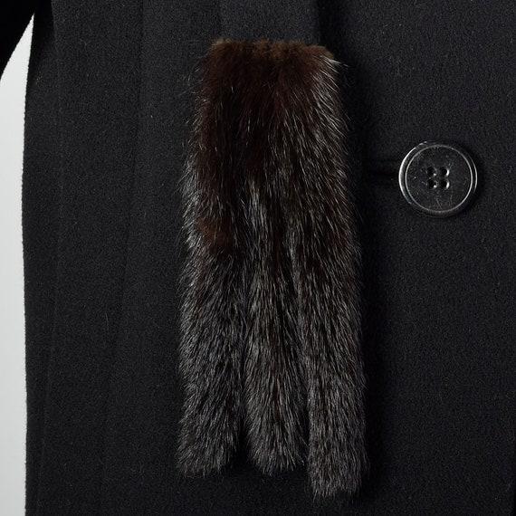 Small 1980s Pauline Trigere Coat Black Wool Winte… - image 9