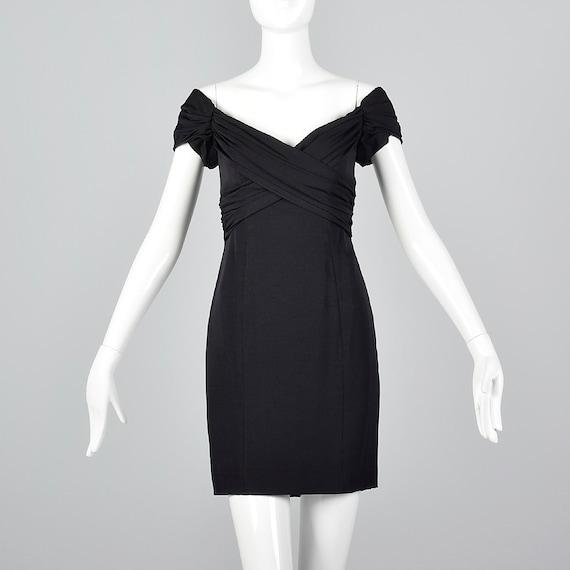 Xs Nicole Miller Off Shoulder Sexy Dress Little Black Dress Etsy