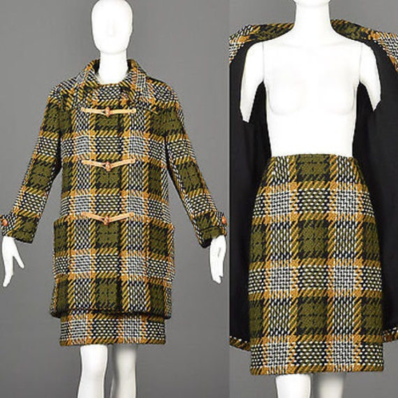 60s Suit 1960s Suit 60s Skirt Suit Tweed Suit Plai