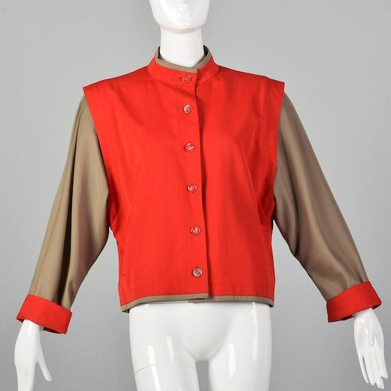 Medium Louis Feraud 1980s Color Block Jacket Vinta