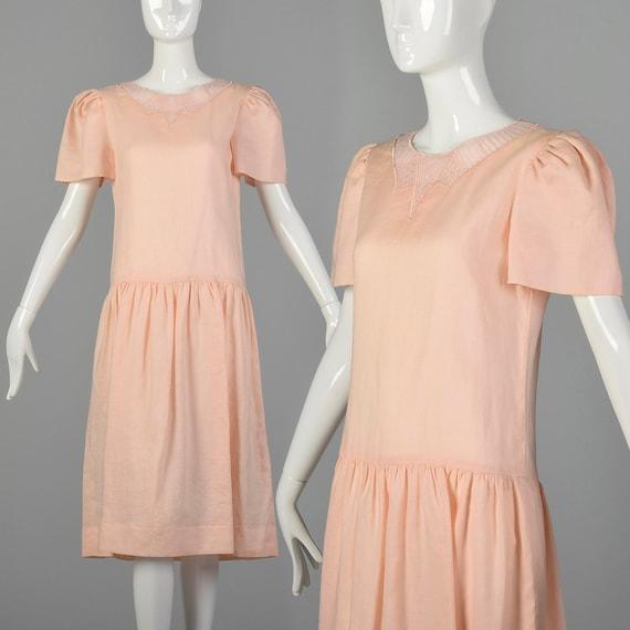Small Albert Nipon 1980s Linen Dress
