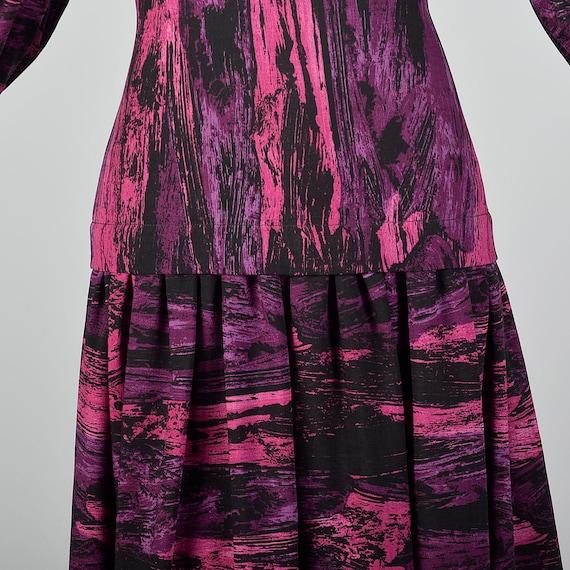 Medium Pauline Trigere Drop Waist Dress 1980s Tri… - image 8