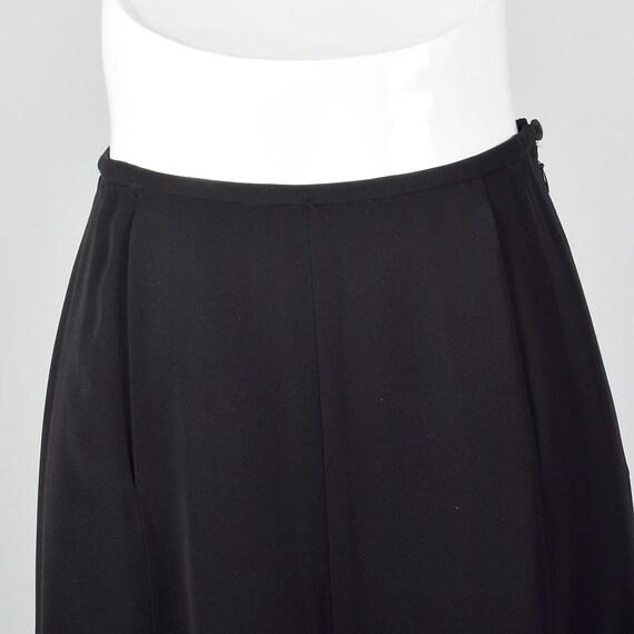 Small 1990s Giorgio Armani Black Maxi Skirt Merma… - image 4