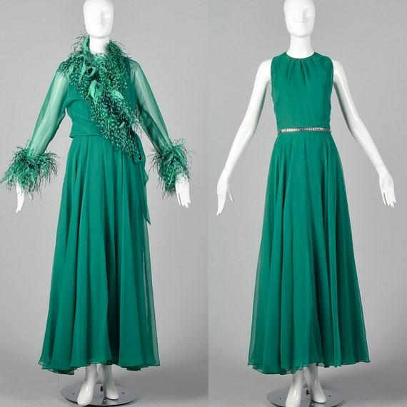 Medium Adele Simpson Elizabeth Arden 1970s Gown Vi
